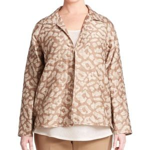 Lafayette 148 Embroidered Jacquard Jacket Chai S